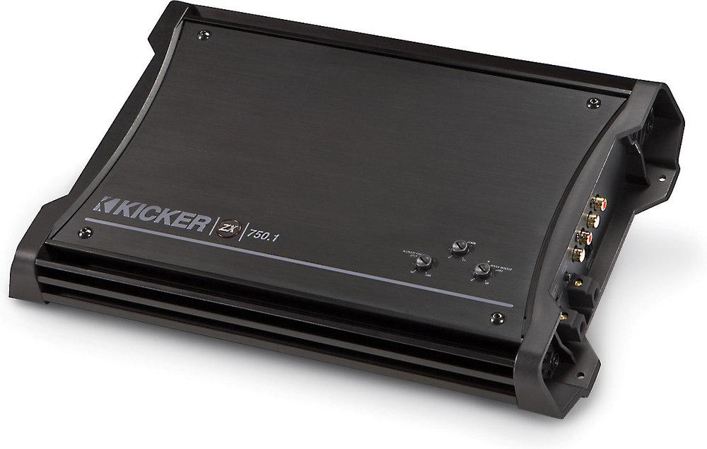 kicker 11zx750 1 mono subwoofer amplifier 750 watts rms x 1 at 2 kicker 11zx750 1 mono subwoofer amplifier 750 watts rms x 1 at 2 ohms at crutchfield com