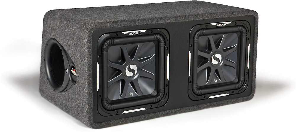 kicker 11ds12l72 ported enclosure with dual 12 solo baric. Black Bedroom Furniture Sets. Home Design Ideas