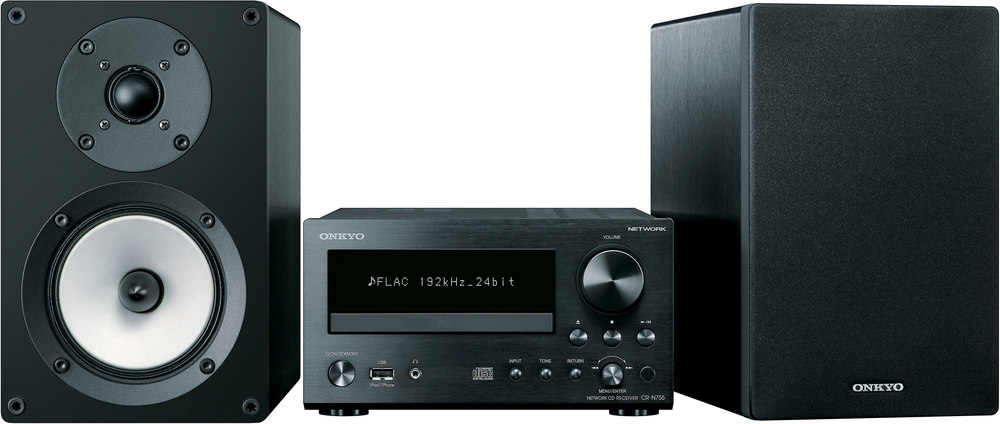 onkyo bookshelf stereo system. onkyo cs-n755 am/fm/cd mini audio system with network music streaming at crutchfield.com bookshelf stereo u
