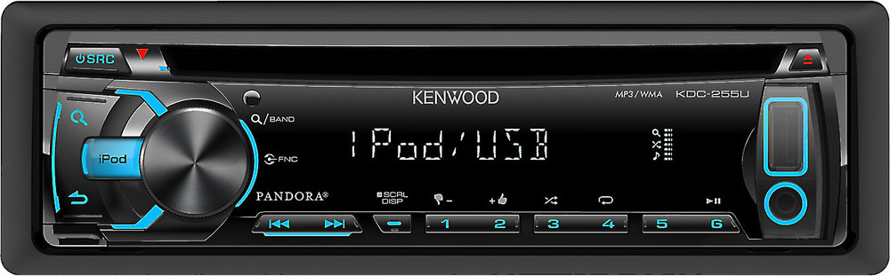 kenwood kdc 255u cd receiver at crutchfield com