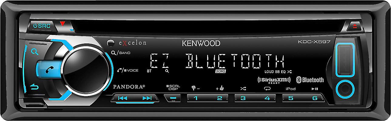 Kenwood Excelon KDC-X597 CD receiver at Crutchfield