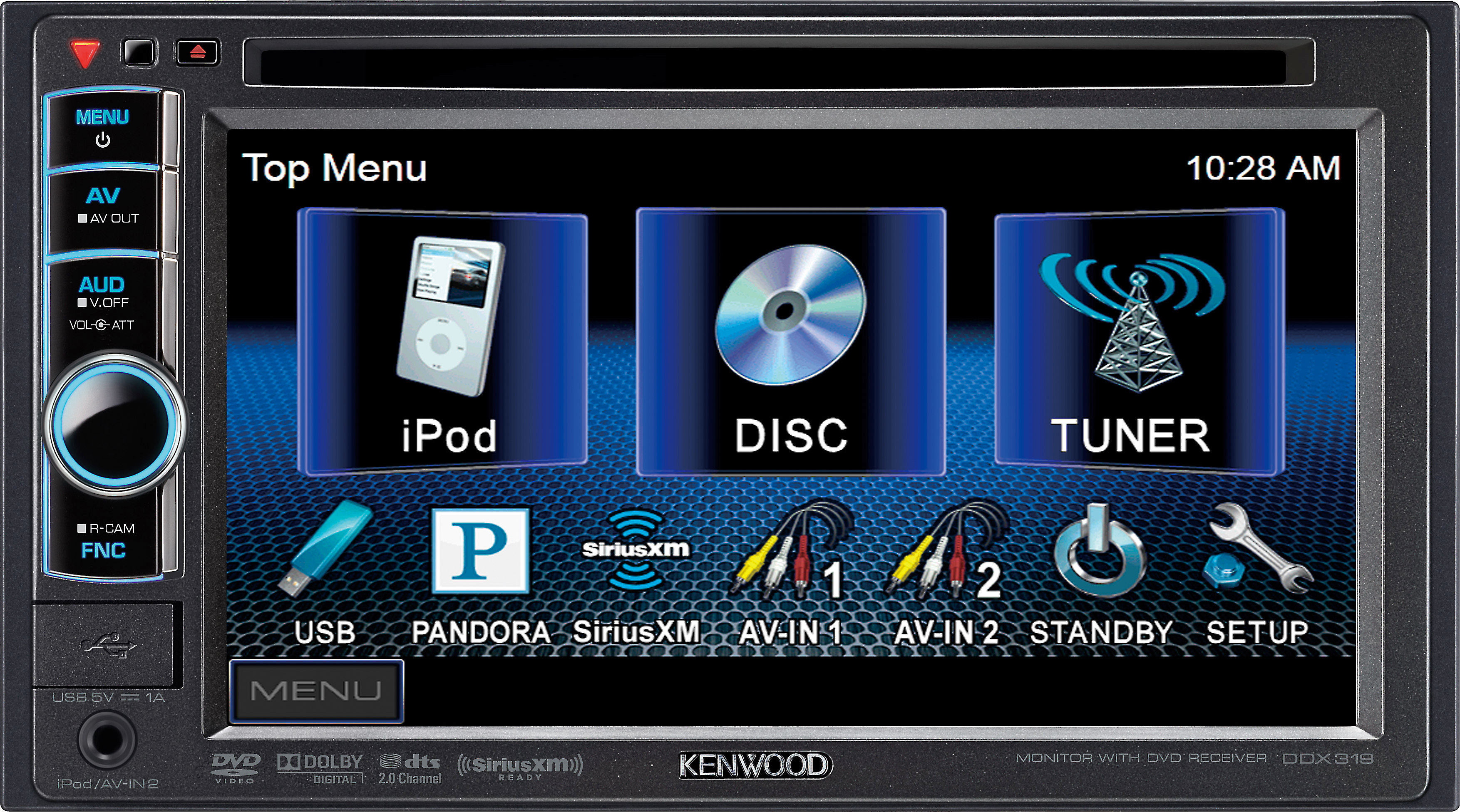 kenwood ddx319 dvd receiver at crutchfield com Pioneer Car Stereo Wiring Diagram