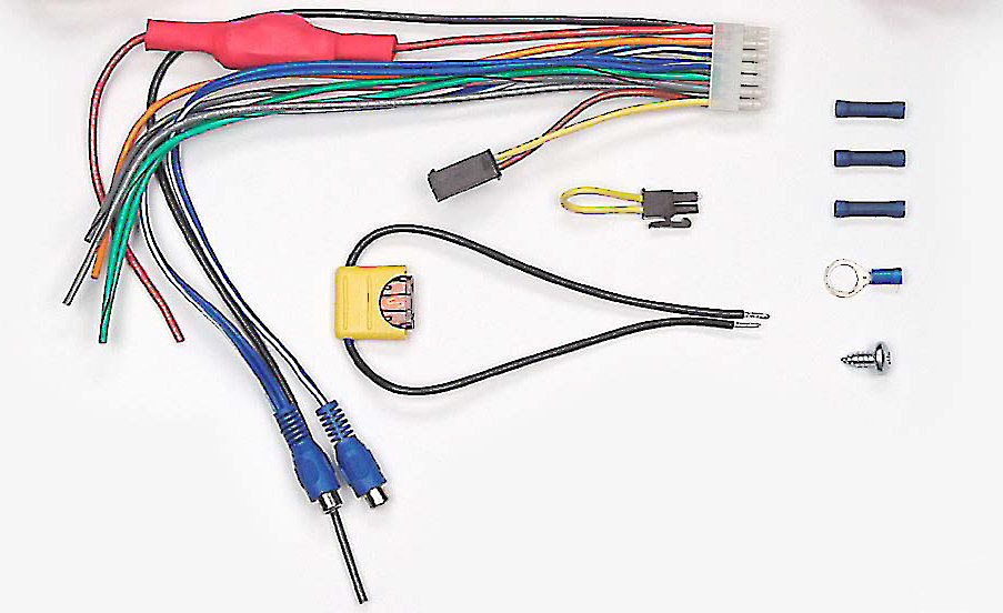 x204ELAAWK o_front bazooka ela awk replacement wiring kit with rca inputs for select wiring harness subs at aneh.co