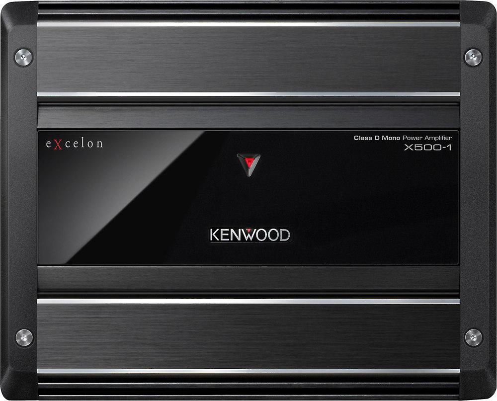 Kenwood Excelon X500 1 Mono Subwoofer Amplifier 500 Watts Rms X Crutchfield Wiring Harness Gauge At 2 Ohms