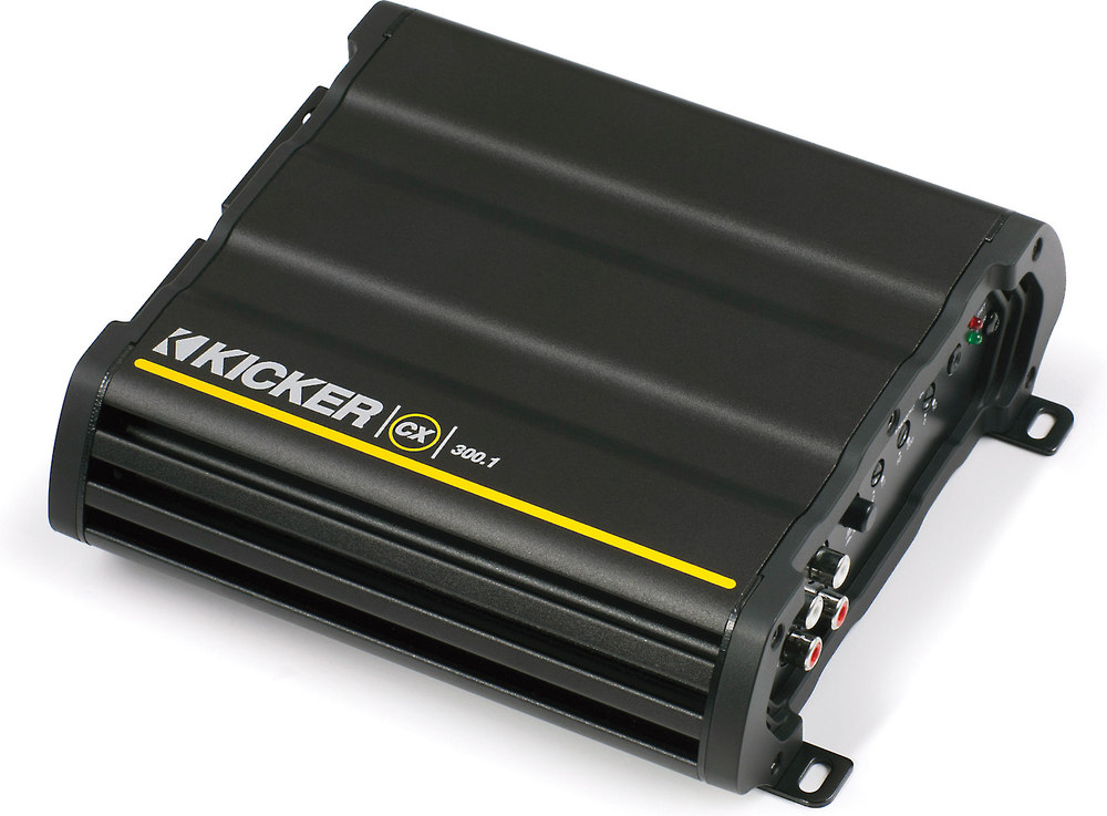 Kicker 12CX300.1 Mono subwoofer amplifier — 300 watts RMS x 1 at 2 ...