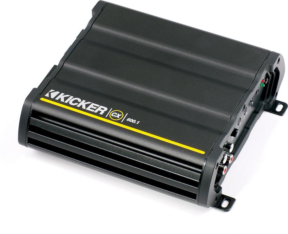 Kicker 12CX600.1 Mono subwoofer amplifier — 600 watts RMS x 1 at 2 ohms at  Crutchfield.com