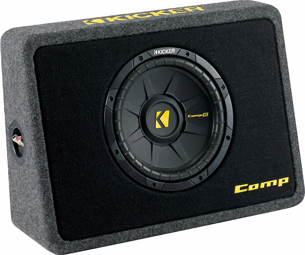Kicker 40tcws104 Ported Truck Enclosure With One 4 Ohm 10 Comps 2015 Ford F 150 Subwoofer Box Wiring At