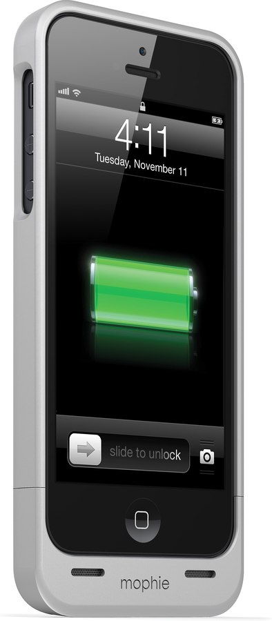 Mophie Juice Pack Helium Silver Ultra Thin Iphone 55s Case With