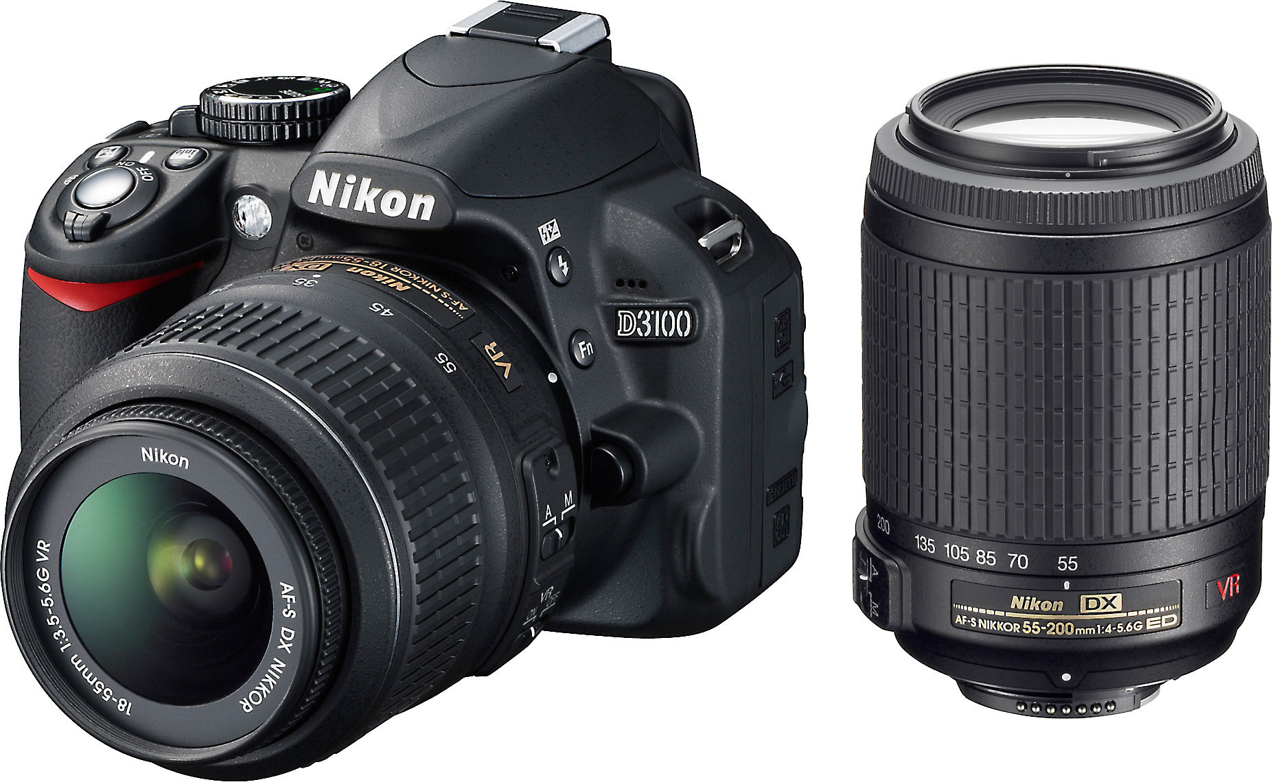 Nikon D3100 Kit with Standard Zoom and Telephoto VR Zoom Lenses