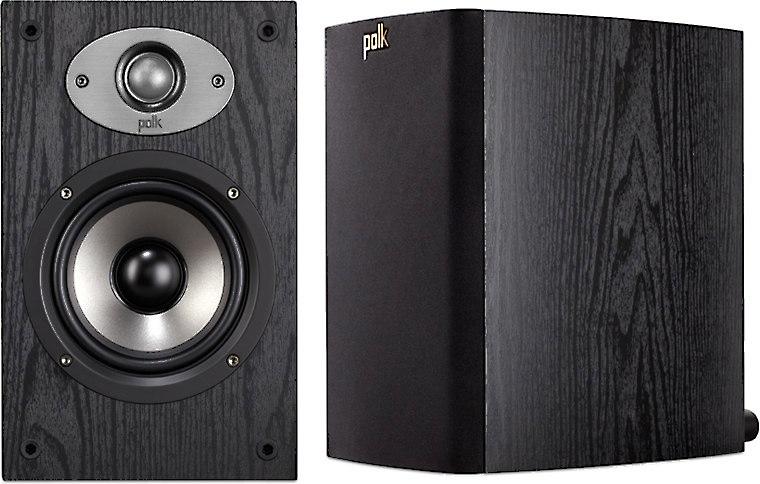 Polk Audio TSx110B Black Bookshelf Speakers At Crutchfield