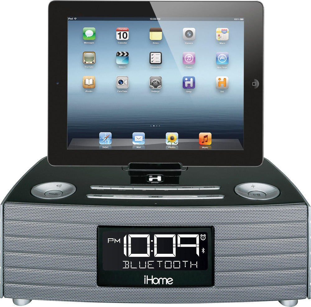 iHome iBT97 FM clock radio with Bluetooth® and USB charging at ...