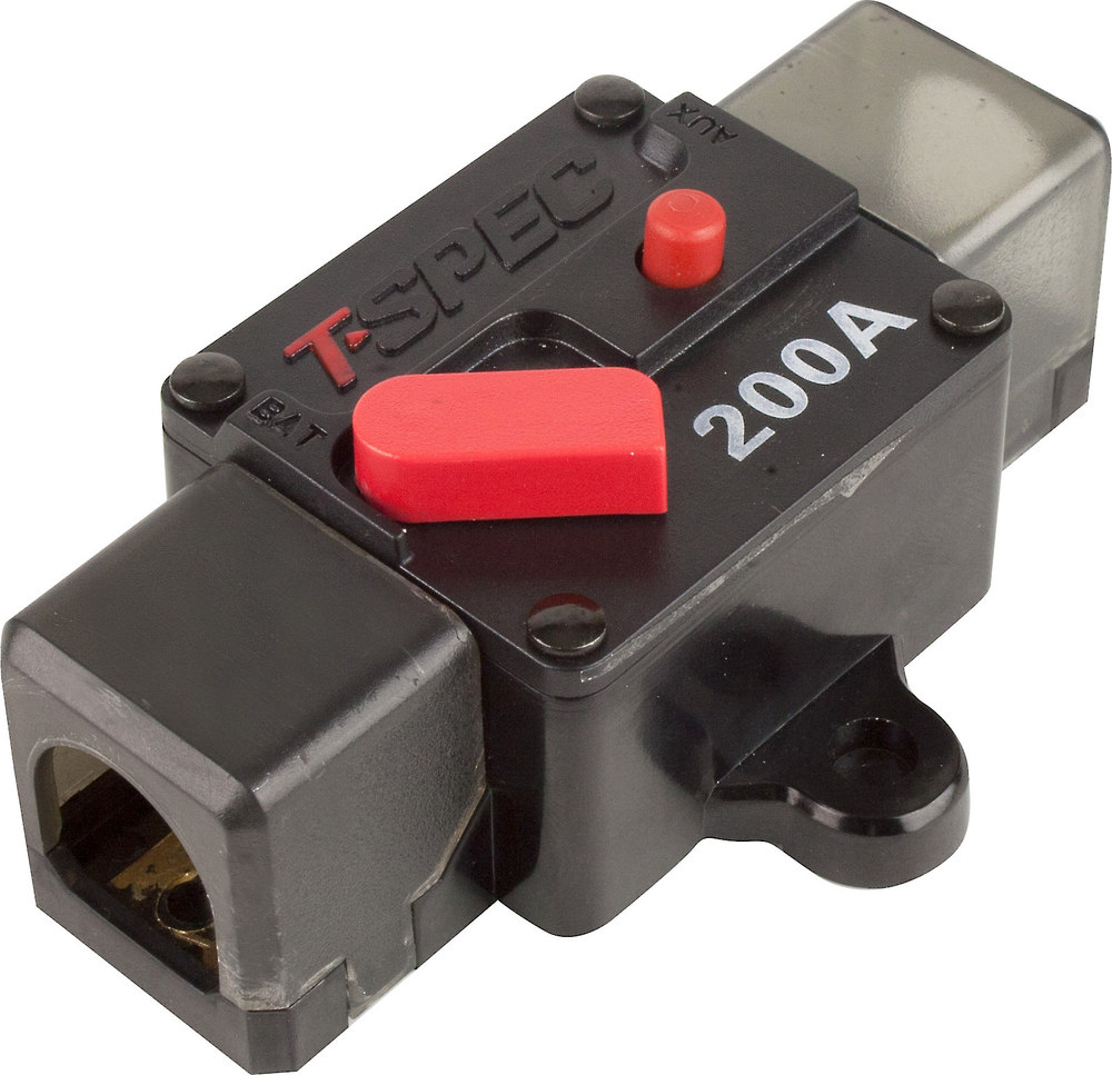 T Spec Circuit Breaker 200 Amp Fits 1 0 To 4 Gauge Wire At Power 16 Wifi Use