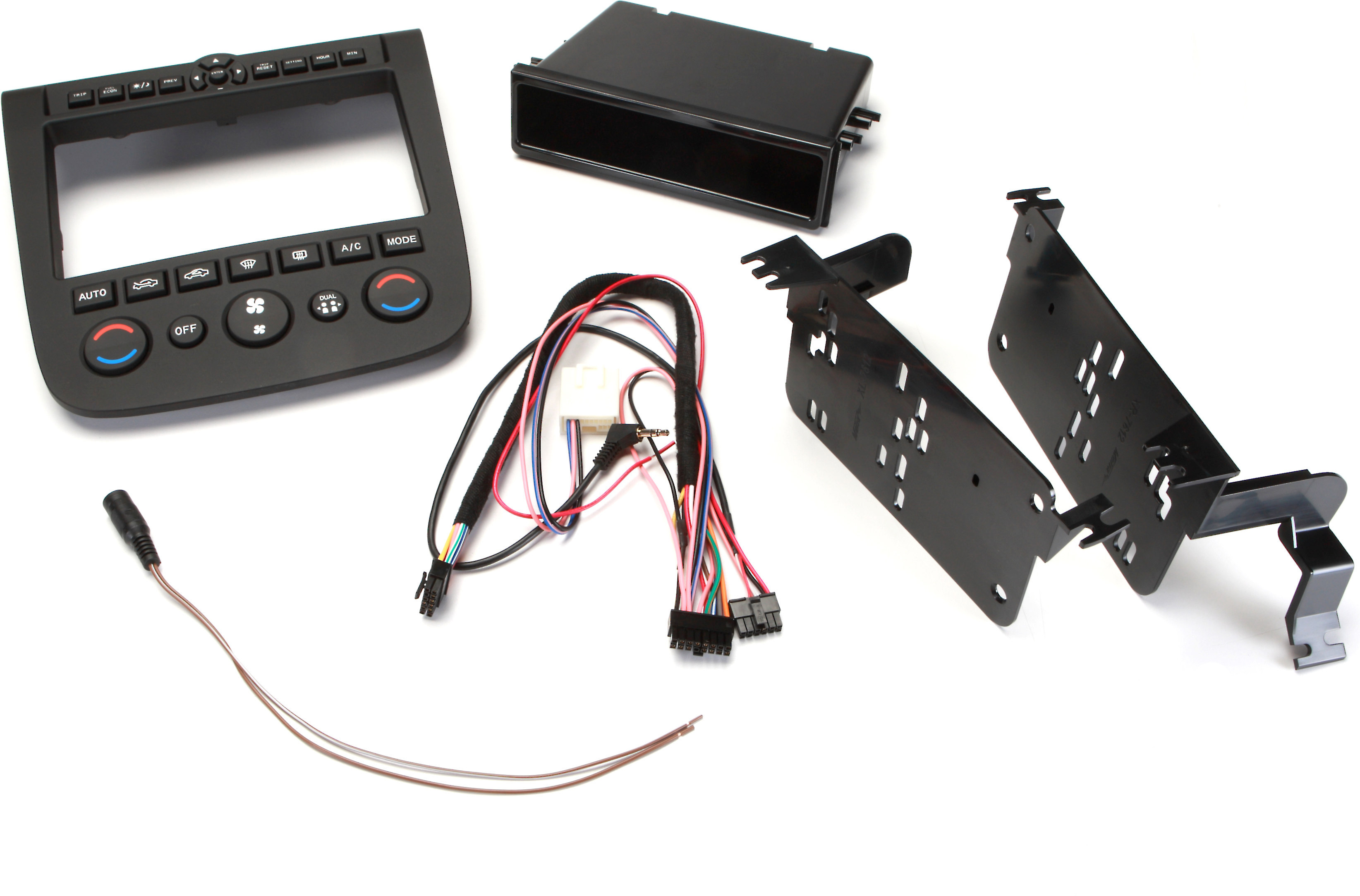 Metra 99-7612A Single//Double DIN Installation Dash Kit with Aluminum Finish for 2003-2007 Nissan Murano