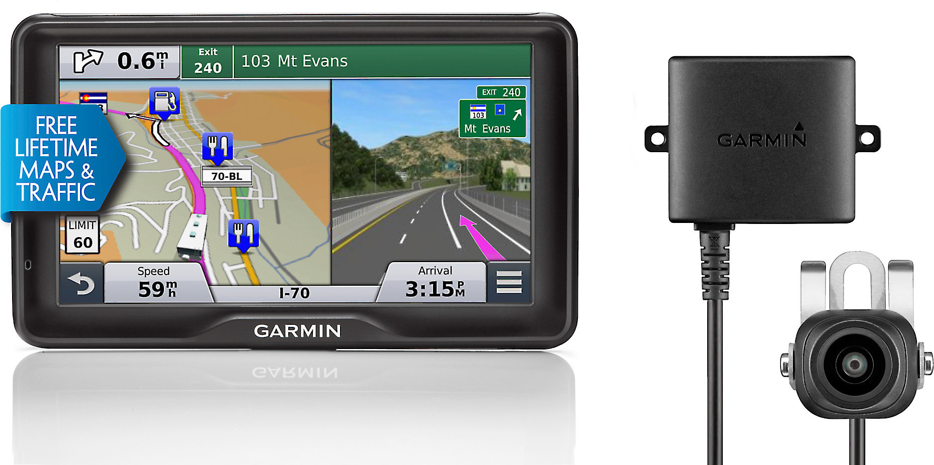 Garmin Rv 760lmt With Wireless Back Up Camera Portable Navigator With Voice Activated Navigation For Rv Drivers Includes Free Lifetime Map And Traffic Updates At Crutchfield