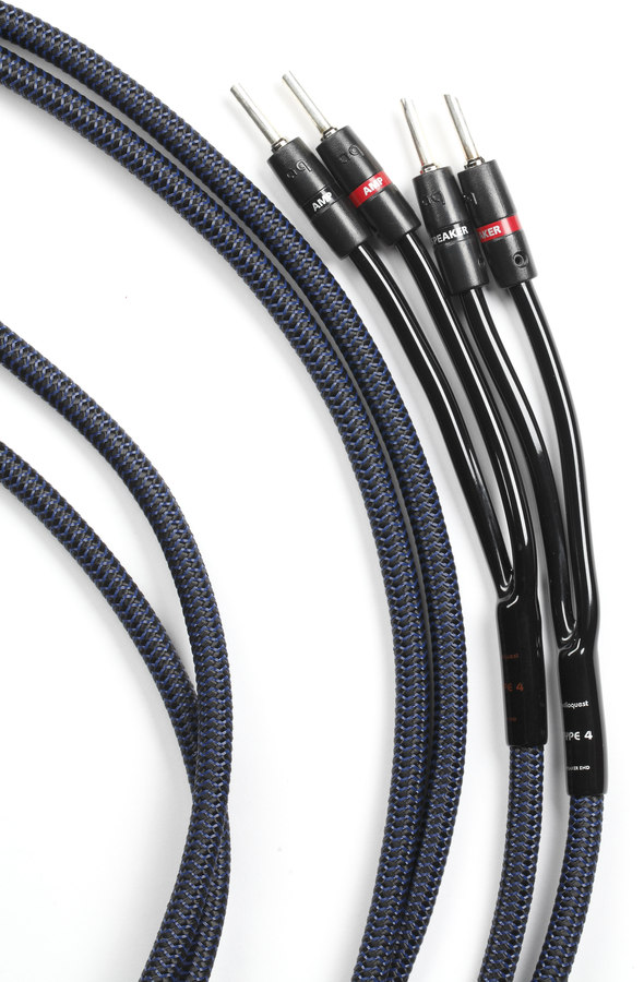 AudioQuest Type 4 (15-foot pair) Speaker cables with pre-attached ...