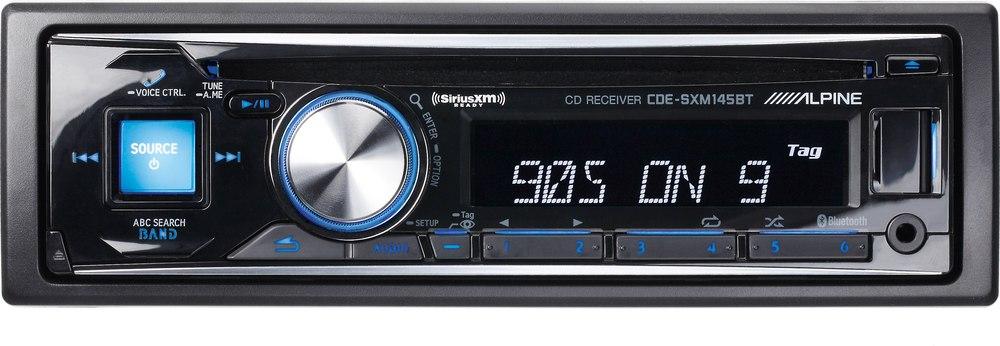 x500SXM145B f alpine cde sxm145bt cd receiver with free siriusxm satellite radio  at gsmx.co