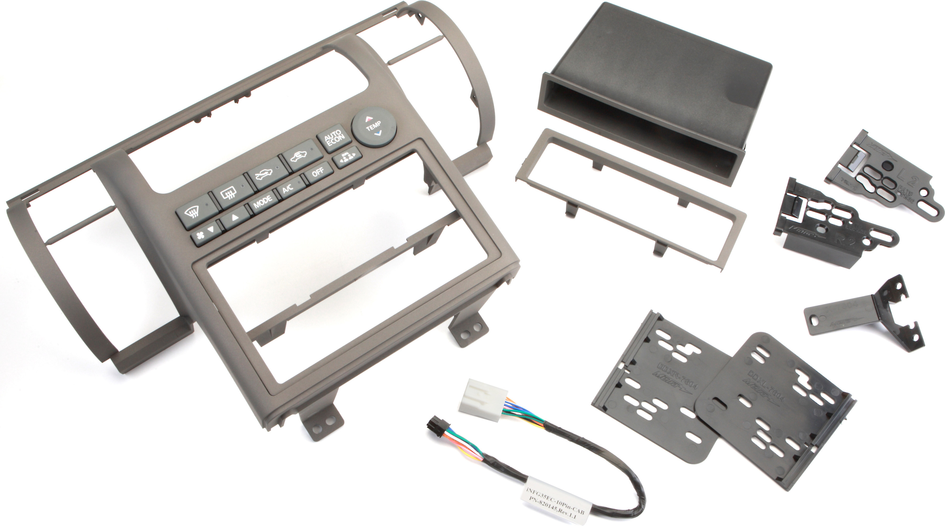 Metra 99 7604 Dash Kit Tan Install A New Single Din Or Double Car Stereo In Your 2003 04 Infiniti G35 At Crutchfield