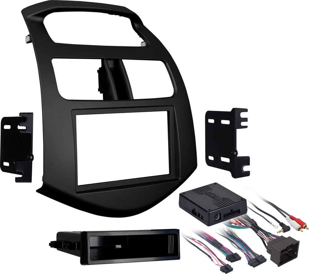 Metra 99 3309b Dash And Wiring Kit Flat Black Install Connect Chevy Vss Harness A New Car Stereo In Select 2013 Up Chevrolet Spark Models Retains Bluetooth Onstar
