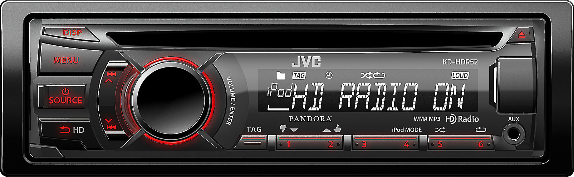 JVC KD-HDR52 CD receiver at Crutchfield on