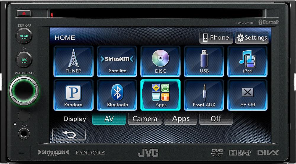 jvc kw av61bt dvd receiver at crutchfield com