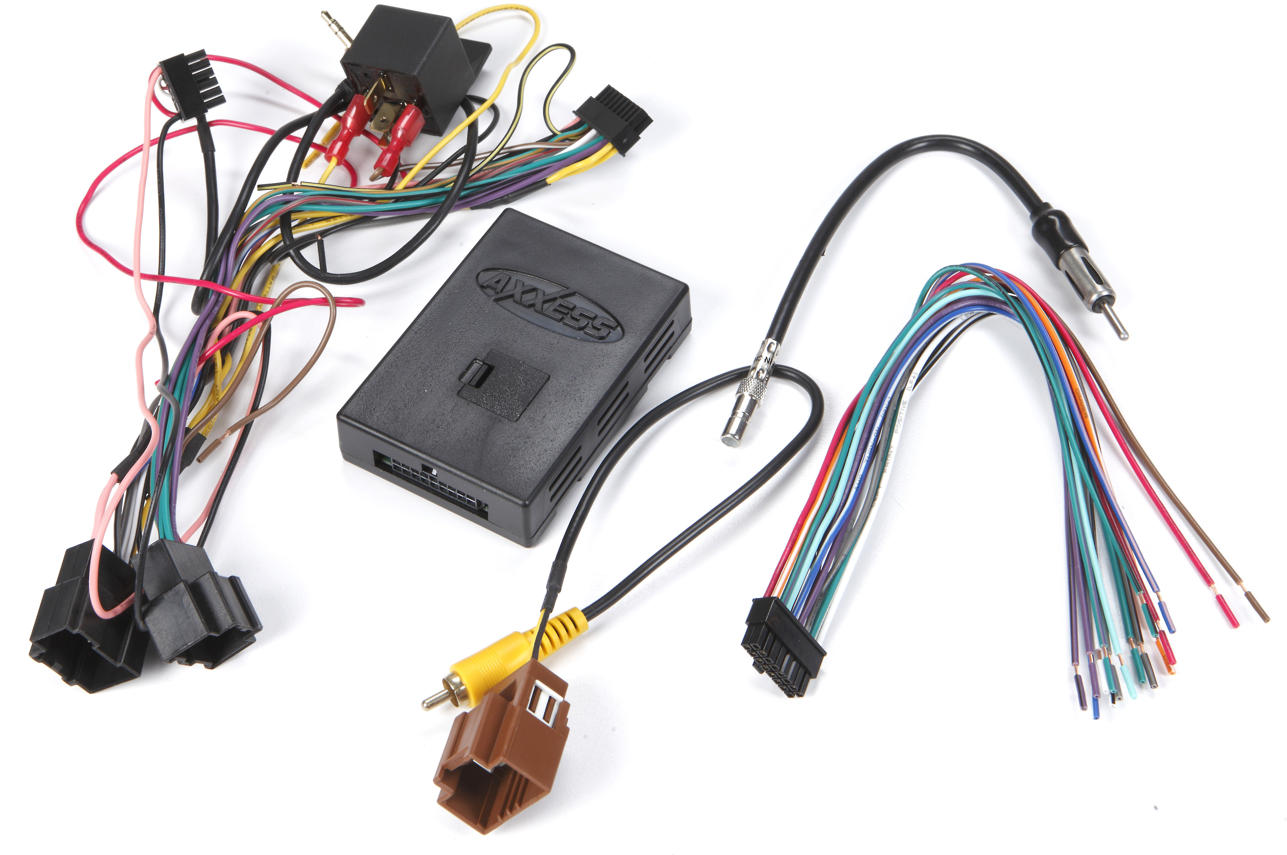 axxess gmos-lan-02 wiring interface connect a new car stereo and retain  factory amp, onstar, bluetooth, backup cam, and warning chimes in select  2006-up gm