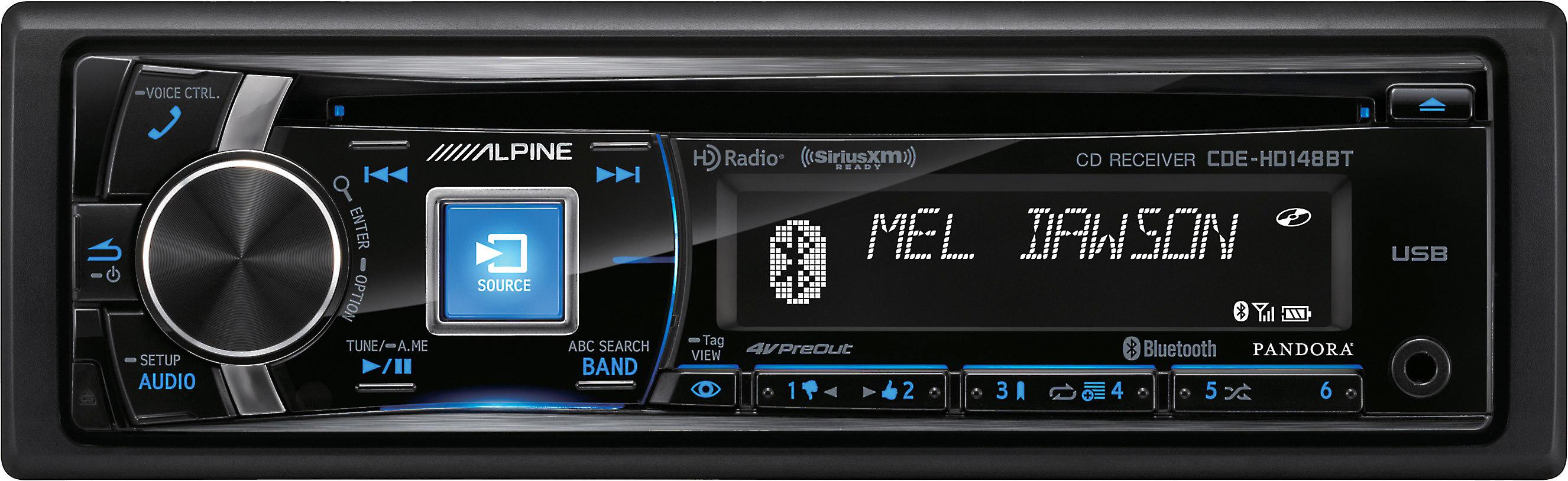 alpine cde hd148bt cd receiver at crutchfield com