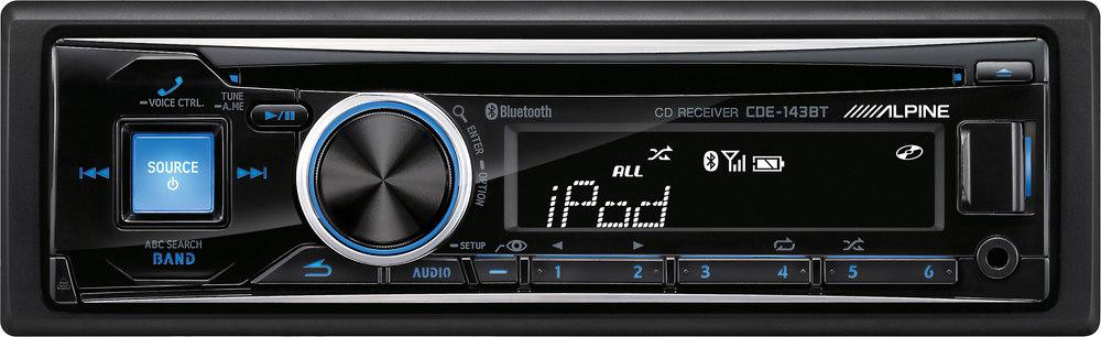 alpine cde 143bt cd receiver at crutchfield com