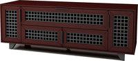 """Sanus Trillium Collection 63"""" Video Cabinet- Dark Cherry"""