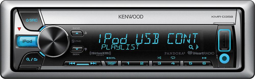 kenwood kmr d358 marine cd receiver at crutchfield com rh crutchfield com Kenwood Radio Wiring Back Kenwood Model KDC Install Wiring