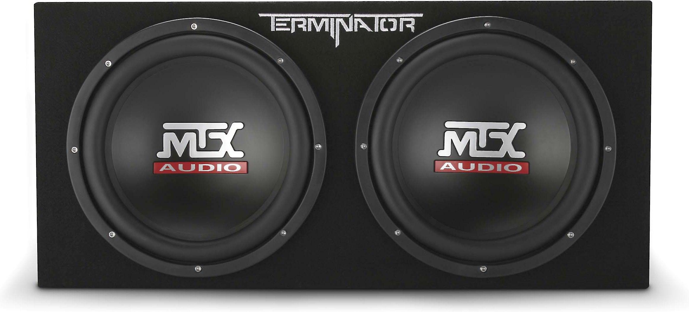 """MTX Terminator TNE212D 1200 Watt Dual 12"""" Subwoofers+Sealed Sub Box+Amp+Wire Kit"""
