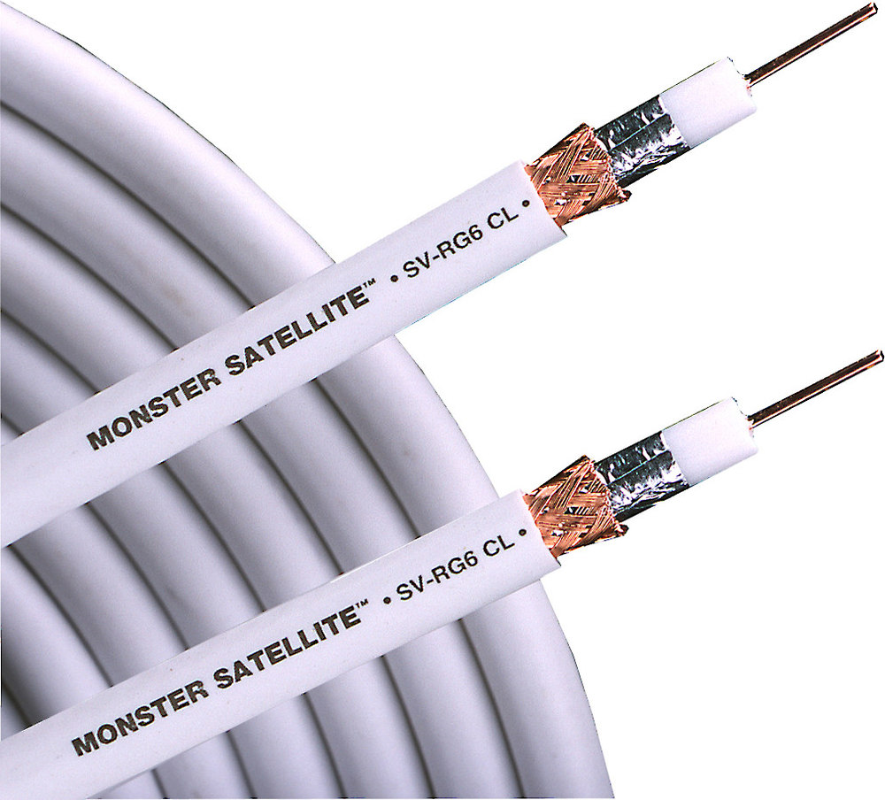 Monster Cable SV-RG6 RG-6 cable (500-ft. spool) Double-shielded, in ...