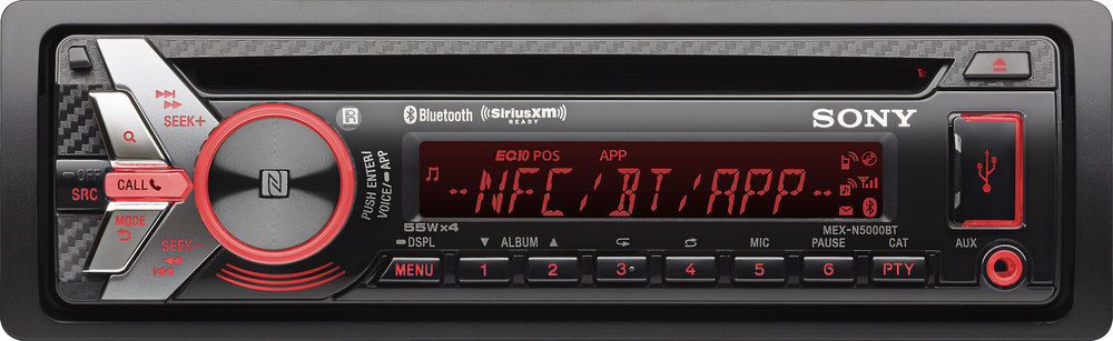 sony mex n5000bt cd receiver at crutchfield com