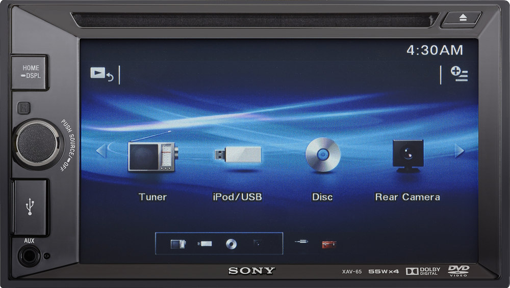 Sony XAV-65 DVD receiver at Crutchfield.com