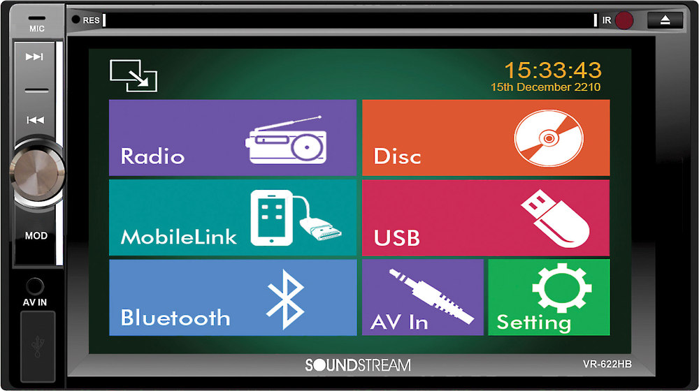 Soundstream VR-622HB DVD receiver at Crutchfield.com