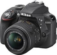 Nikon D3300 DX-format DSLR w/ 18-55mm DX VR II-  Black, 2...