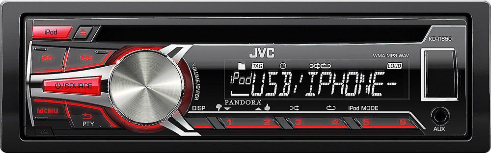x105KDR650 F jvc kd r650 cd receiver at crutchfield com jvc kd-r650 car stereo wiring diagram at gsmx.co