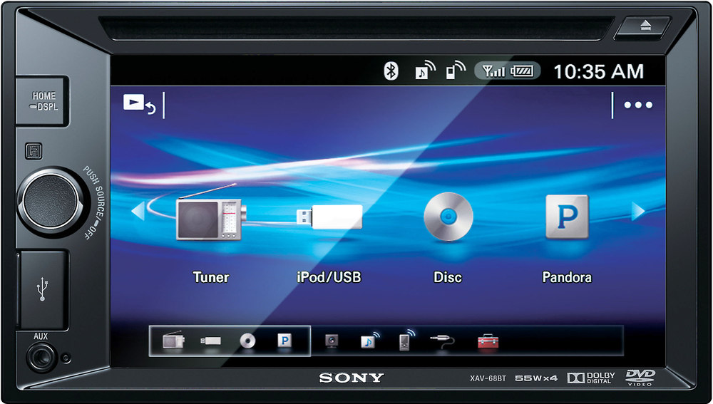 Sony XAV-68BT DVD receiver at Crutchfield.com
