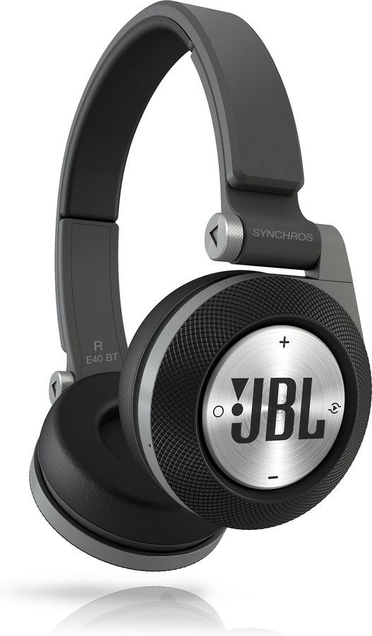 jbl synchros e40bt black on ear bluetooth headphones at