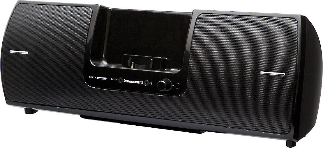 Black SiriusXM SXSD2 Portable Speaker Dock Audio System for Dock and Play Radios