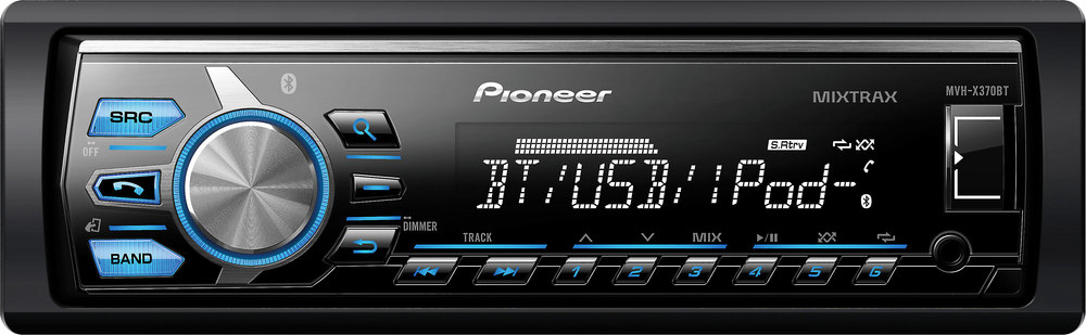 x130X370BT F pioneer mvh x370bt (2014 model) digital media receiver (does not pioneer mvh x380bt wiring diagram at n-0.co