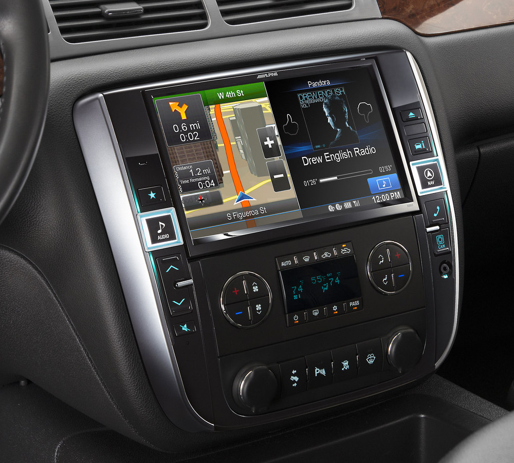 alpine  gm  dash restyle system navigation receiver