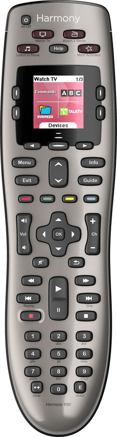 Logitech Harmony 650 Universal Remote With Color Screen At