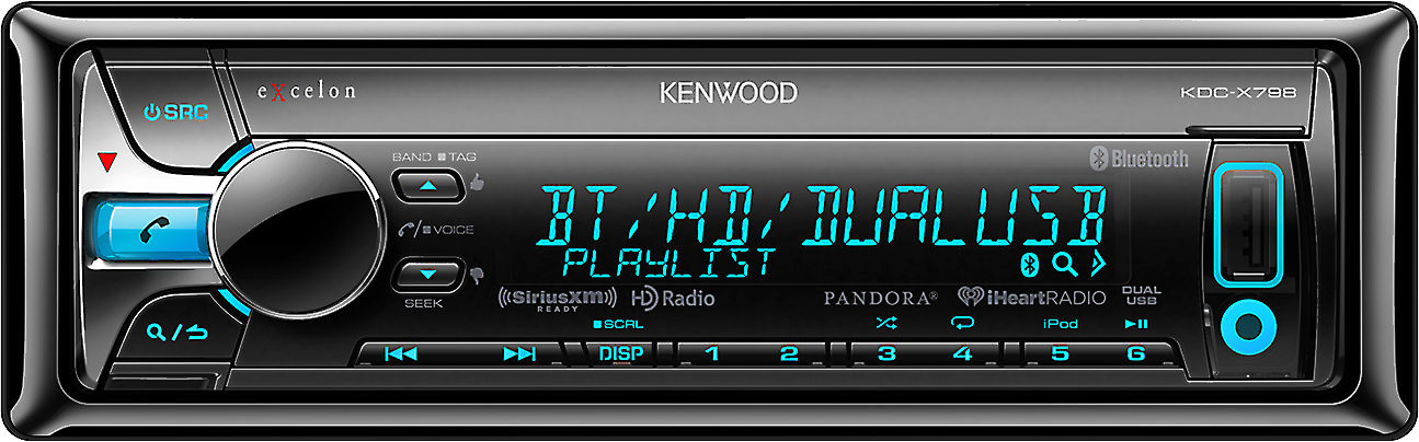 Kenwood Excelon KDC-X798 CD receiver at Crutchfield on