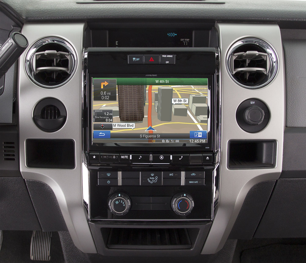Alpine X Fd In Dash Restyle System Navigation Receiver Custom Fit Replacement Radio With  Screen For Select  Up Ford F  Models At