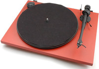 PRO-JECT Essential II USB Red  turntable with built-in ph...