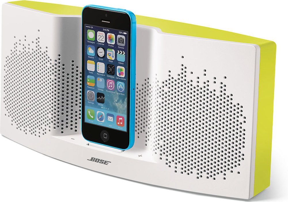 bose sounddock xt speaker white yellow with lightning. Black Bedroom Furniture Sets. Home Design Ideas