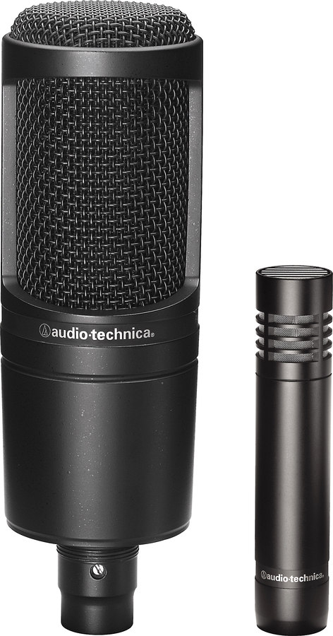 Audio-Technica Microphone Pair AT2020 & AT2021 cardioid condenser mics at Crutchfield.com