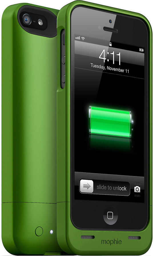 Mophie Juice Pack Helium Green Ultra Thin Iphone 55s Case With