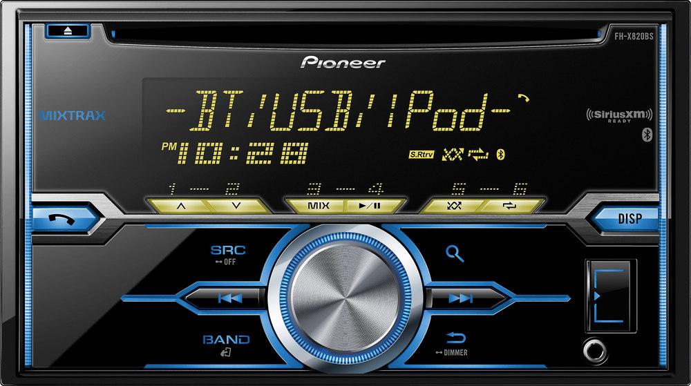 Pioneer FH-X820BS CD receiver at Crutchfield.com