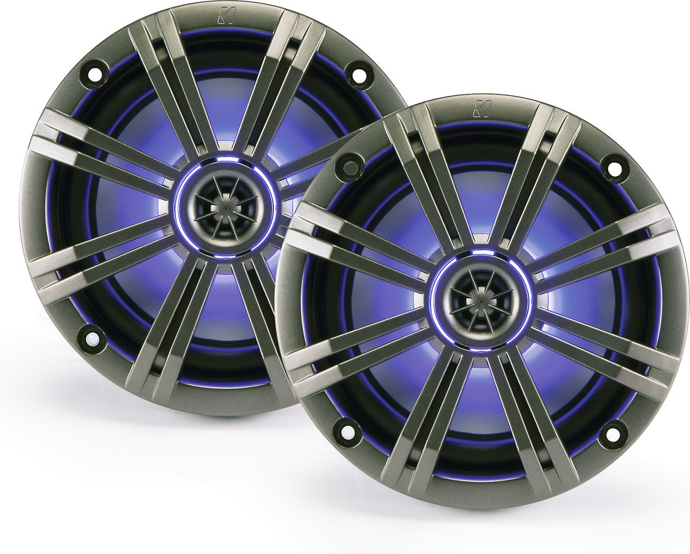 Kicker Km654lcw 6 1 2 Way Marine Speakers With Built In Led Beat Box Wiring Diagram Lighting At